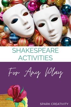 Want to see your high school ELA students enjoying their time with the bard? Make studying Shakespeare more fun and engaging with this lineup of creative Shakespeare lesson plans and activities, perfect for your next Shakespeare unit, no matter which play you're diving into. Creative Curriculum, Creative Teaching, English Teachers, Teaching English, English Classroom Decor, Teaching Strategies, High School Students, Shakespeare, Teacher Resources