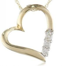Gold and Diamonds Heart Photo