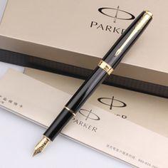Métal marque Parker Pen noir argent luxe stylo à encre personnaliser gravure Logo pour d'affaires Creative cadeau livraison gratuite 285 dans Stylo-plumes de Fournitures de bureau et scolaire sur AliExpress.com | Alibaba Group