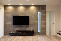Living Room Tv Unit Designs, Interior Design Living Room, Feature Wall Living Room, Mandir Design, Tv Cabinet Design, Home Projects, Building A House, Modern Design, Modern Living