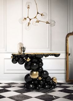 LUXURY BRANDS | Newton Console Table by Boca Do Lobo | Made by the best artisans a incredible work handmade furniture for contemporary interiors. Home furniture, designer furniture, inspirations ideas, exclusive furniture, design ideas, home decor ideas, interior design ideas. | www.bocadolobo.com