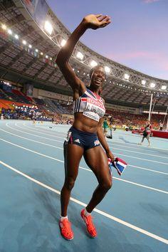 Christine Ohuruogu - IAAF World Athletics Championships Moscow: Day 3