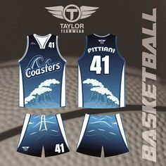55f4c07b4a8 A design we made for the Wonthaggi Coasters basketball club. Still one of  our favourites