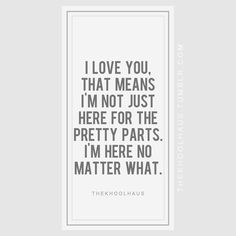 no matter what!!! I love you and I will always be by your side...