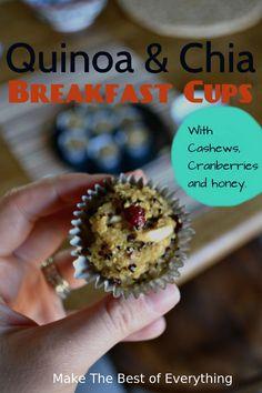 Quinoa Breakfast cups. gluten-free and sugar-free.