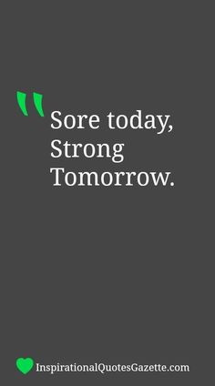 Inspirational Quote About Fitness - Visit us at InspirationalQuotesGazette.com for the best inspirational quotes!