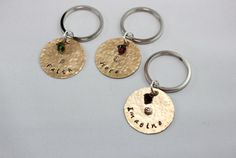 Inspirational Handstamped Metal Brass Keychains by downtownglam, $15.00