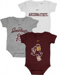 sun devil Arizona State University, Nfl Shop, Niece And Nephew, Mommy And Me, Sport Outfits, Baby Shower Gifts, Devil, Onesies, Baby Boy