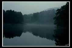 by ♡Gosia M more: http://xgosia-mx.tumblr.com   &   https://www.facebook.com/gosiamphoto  #gosiam #lake #fog #forest #dark #evening #wood