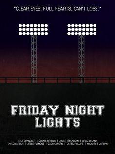 Friday Night Lights Minimalist Poster by MinimalistPosterShop