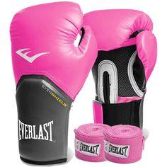 e4e9fbce0 Kit Boxe Everlast - Luva Rosa 08oz Bandagem Rosa