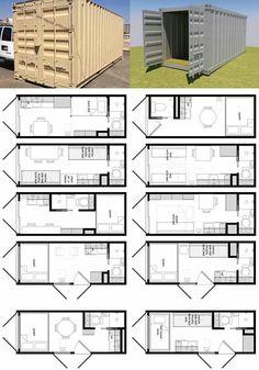Tiny home - Shipping container home layout ideas www.54-11.com GLOBAL@Argentina.com Venta de #containers #maritimos, venta de #contenedores #refrigerados y de #carga seca. Servicios de Comercio Exterior
