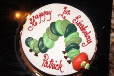 Vanilla Buttercream Hungry Caterpillar cake from Publix