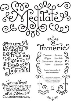 Meditate: sweet, wrought-iron-style font by Lucas Sharp (via Lettercult.)