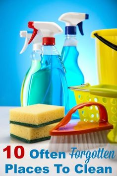 Here's a list of 10 often forgotten places in your home that you need to clean. It's often out of sight, out of mind for these areas, but getting them cleaned will make a big difference. #ad