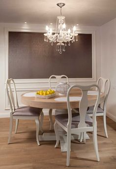 Dining Room - frame wallpaper!...I will then add photos of friends and family!