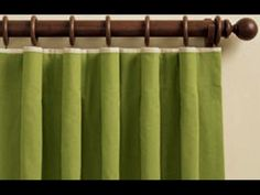 cartridge pleat drapes with tiny trim at top
