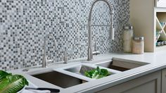 """Architizer featured the ROHL RGK Stainless Steel Kitchen Sink showcasing its """"offset drain that maximizes efficiency and facilitates full-sink usage. Kitchen Sink, Kitchen Appliances, Modern Family, Kitchen Remodel, Rooms, Stainless Steel, Home Decor, Diy Kitchen Appliances, Bedrooms"""