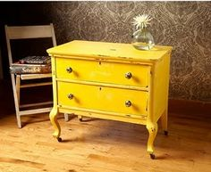 Yes, I am considering painting a piece of furniture yellow for my yellow, grey and white bedroom...