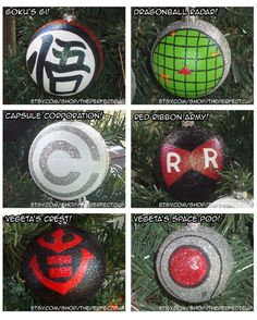 Dragon Ball Z Ornaments hand painted & shatter by ThePerfectCup