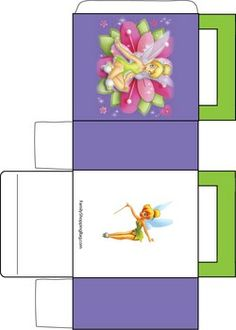 Tinker Bell Flower, Tinker Bell & Peter Pan, Favor Box - Free Printable Ideas from Family Shoppingbag.com