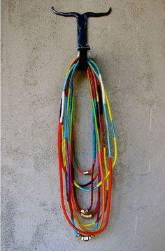 DIY Friendship necklaces.