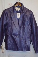 MARGARET GODFREY Vintage Lavender Iridescent Leather Blazer Jacket NWT $100