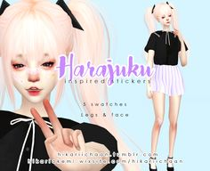 HikariiChaan ♡ | Created by me :3 5 Swatches Legs & face tag me...