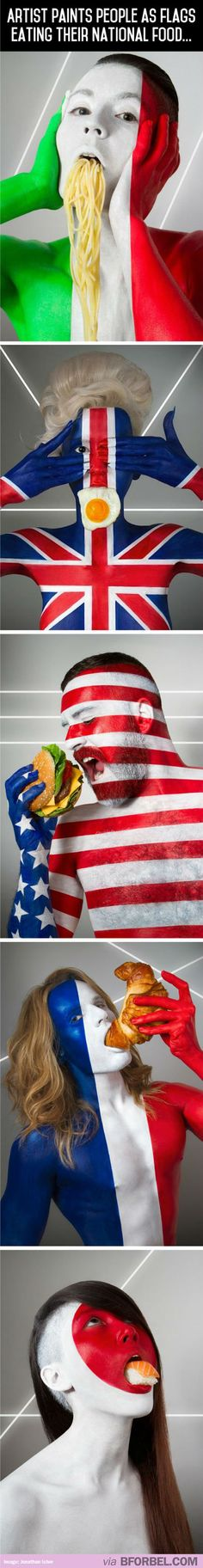 Artist Paints People As Flags With Their National Food…