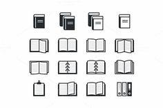 Book icons set @creativework247