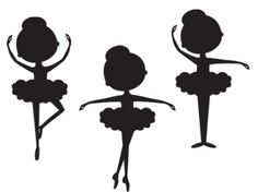 Silhouette Ballerina Clip Art | Meylah. Would be adorable as prints in Ariah's room.