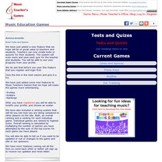 Awesome games for teaching theory- lines and space, piano keys, rhythms, and ear training for intervals.  There are different settings for each game to make it harder or easier. Even better, as a teacher, you can have your students play and keep track of their scores (as practice or a quiz).  http://musicteachersgames.com