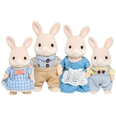 Designer Clothes, Shoes & Bags for Women Sylvanian Families House, Sweet Little Things, Bunny Toys, Dollhouse Miniatures, Cute Pictures, Rabbit, Snoopy, Sparkle, Teddy Bear