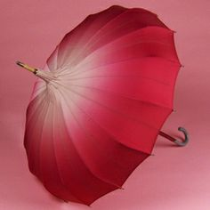 ID 1265 Pale Pink fades to rich pink Magenta pagoda umbrella