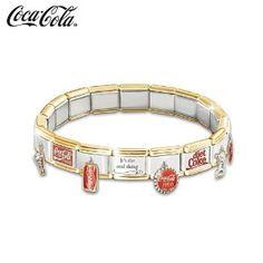COCA-COLA Ultimate Italian Charm Bracelet by The Bradford Exchange