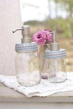 Lil Clear Mason Jar Soap Dispenser