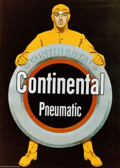 Vintage Continental Pneumatic ad. 1930s. #continental #continentaltire #tires…