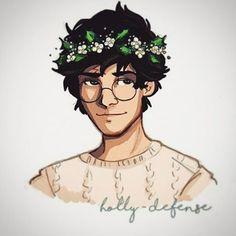 Harry potter with flower crown