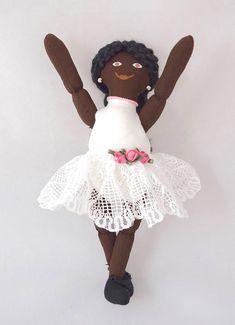 African American Ballerina Doll  Toy Doll  Art Doll