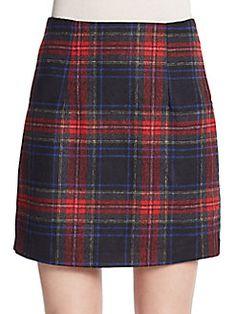 Zero Degrees Celsius - Plaid A-Line Skirt