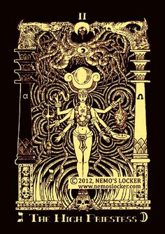 BOOK OF AZATHOTH TAROT DECK - The High Priestess