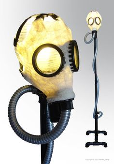 Can't find an original of this wonderful gasmask lamp