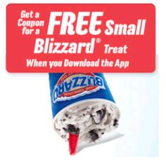 Shoppin N More: Free Blizzard Treat with the Dairy Queen App!