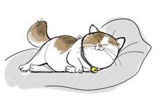 Mochi from Big Hero 6 on We Heart It Big Hero 6, Gatos Cats, Cat Pose, Cat Character, Walt Disney Animation Studios, Disney Sketches, Disney Tattoos, Disney Fan Art, Cute Illustration