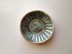 turquoise and silver ring dish // the object enthusiast