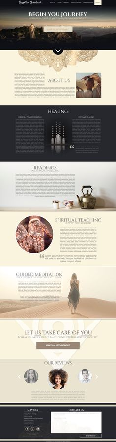 Webpage design for Egyptian Spiritual