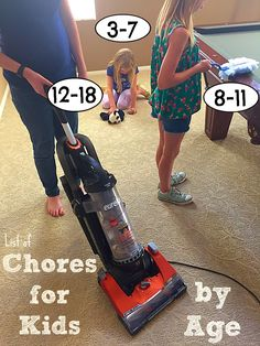 Appropriate chores for kids according to their age + printable chore chart and reward markers #cleaninguntangled #ad