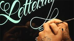 An Incredible Hand Painted Letterform Demonstration by Glen Weisgerber typography pinstriping calligraphy