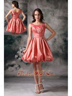 The most Popular Watermelon Red Cocktail Dress A-line Scoop Taffeta Mini-length- $97.56  http://www.fashionos.com  mini length cocktail dress | a line cocktail dress | cocktail dress for 2013 | custom cocktail dress | fitted cocktail dress | informal cocktail dress | lovely cocktail dress | cheap gorgeous cocktail dress | sell cocktail dress | wholesale perfect cocktail dress |   This dress has scoop neckline and fitted bodice, the bubble dress with a simple broad band in waist part