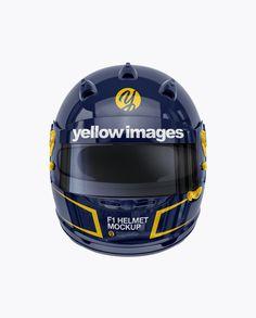 F1 Helmet Mockup – Front View